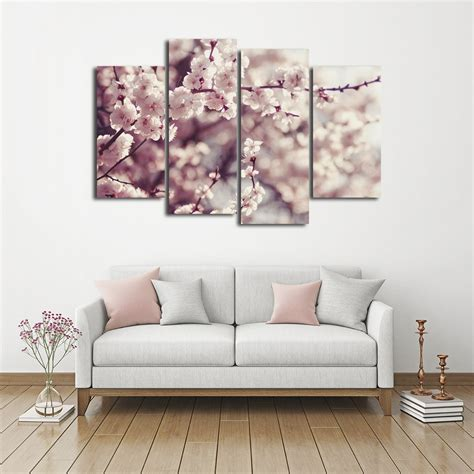 Usually the teen and parent disagree on how to decorate the room. Cherry Blossom Multi Panel Canvas Wall Art   ElephantStock