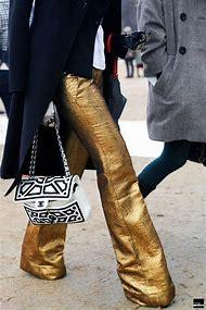 Gold Wide Leg Pants