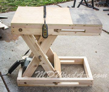 diy motorized scissorbench woodworking woodworking