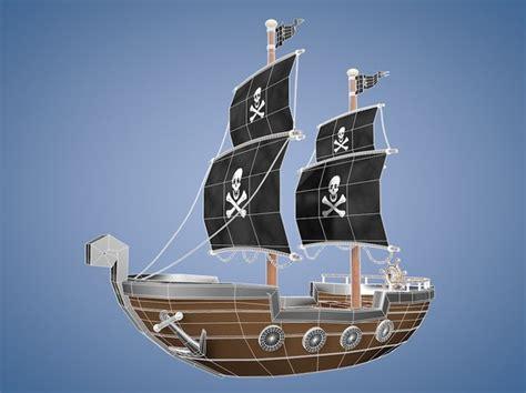 Cartoon Boat C4d by Maya Cartoon Pirate Ship