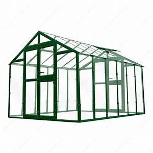 Serre Acier Verre : serre de jardin 249x306cm 7 62m en verre tremp 4mm ~ Premium-room.com Idées de Décoration