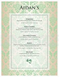 Irish tasting menu template template archive for Irish menu templates