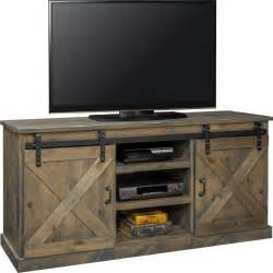 Legends furniture farmhouse 66quot tv stand console in for Barn style tv console