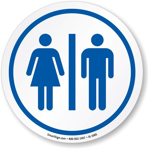 lg water restrooms symbol sign sku is 1085 mysafetysign com