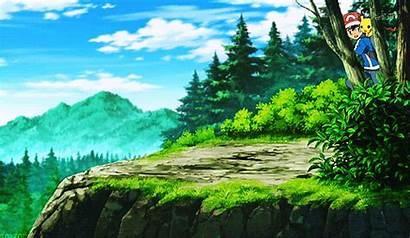 Cliff Pokemon Scenery Nature Pokemon Snow Tree