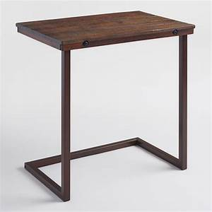 Oversized Wood and Metal Laptop Table World Market