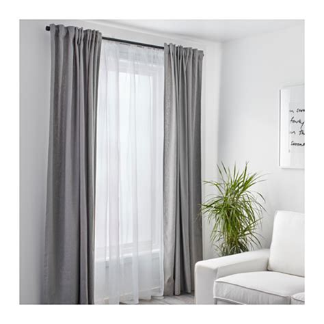 teresia sheer curtains 1 pair white 145x300 cm ikea