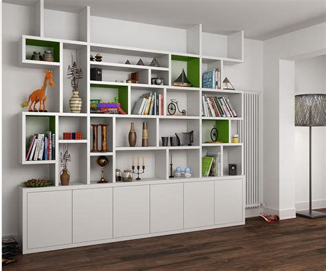 mdf painted bookcase   living room bookshelves