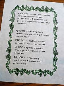 wedding handfasting cord celtic custom handfasting certificate description of colors
