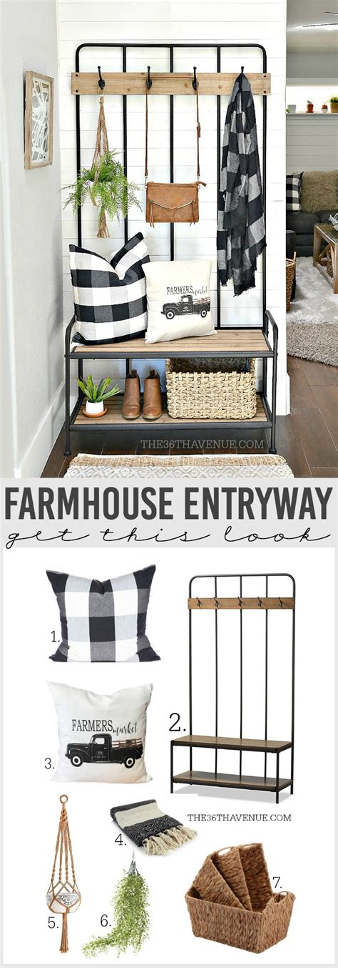 Farmhouse Entryway Decor  Home Decor  The 36th Avenue