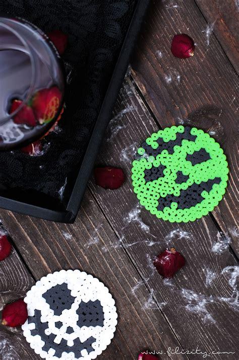 buegelperlen glasuntersetzer fuer halloween handmade kultur