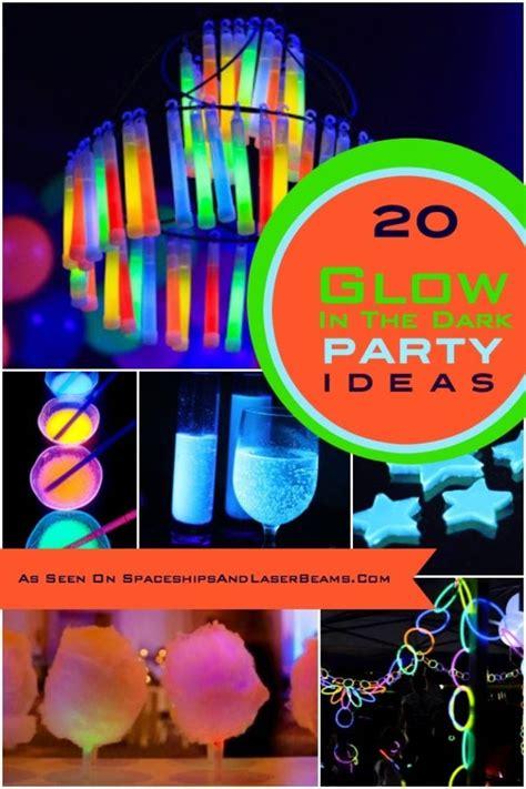 glow   dark party ideas spaceships  laser beams
