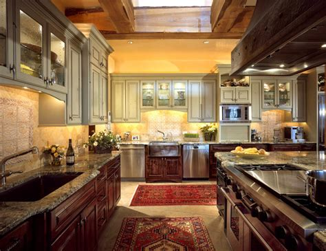 kitchen cabinets distressed chef s kitchen cabinets custom wood products 2973