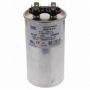 A O  Smith Run Capacitor  55 Mfd 370 Vac
