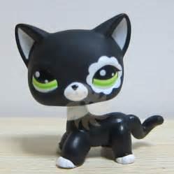lps shorthair cats for littlest pet shop lps toys hair cat black white