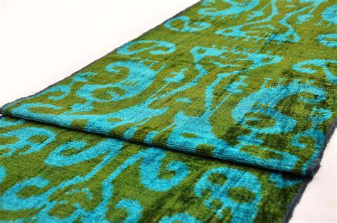 velvet upholstery fabric overdyed green silk velvet fabric ikat cheap