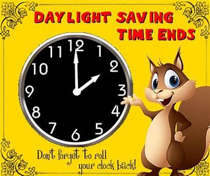 Clock Roll Daylight Ends Saving Change Card