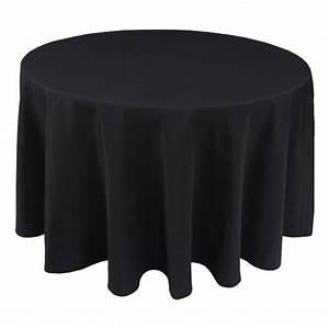 Nappe Pour Table Ronde : nappe ondul e 3 polyester noire pour table pliante ronde ~ Teatrodelosmanantiales.com Idées de Décoration