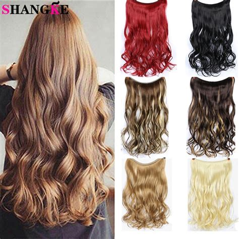 Shangke 24inch Long Curly Extension Synthetic Hair Heat