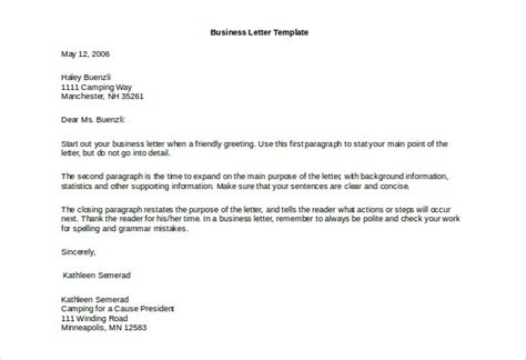 50+ Business Letter Templates -pdf, Doc