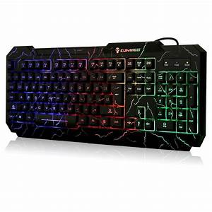 Kuiyn, Crack, Rainbow, Backlit, Keyboard, Colorful, Led, Illuminated, Gaming, Pc, Keyboard, With, Spill