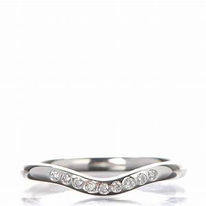 tiffany co platinum diamond elsa peretti curved wedding With elsa peretti wedding band ring