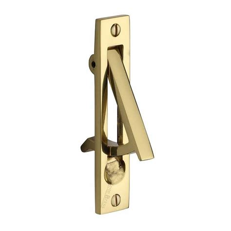 pocket door edge pull in polished brass finish at simply door handles