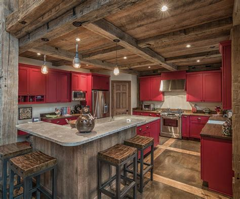 rectangular kitchen ideas rustic concrete kitchen kitchen rustic with post and beam
