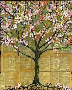 Rosa Blüten Baum : ein rustikaler baum platzen mit wei en und rosa bl ten ist verstecken zwei kleine blaue v gel ~ Yasmunasinghe.com Haus und Dekorationen