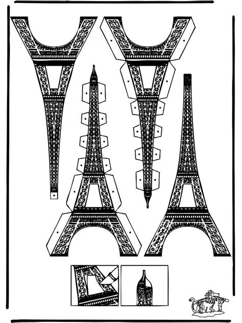 eiffel tower paper template google search eiffel