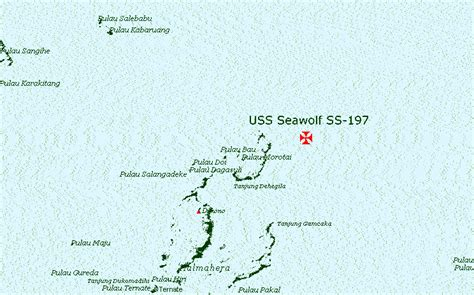 Where Did The Uss Maine Sank Map by Maritimequest Uss Seawolf Ss 197 Wreck Map