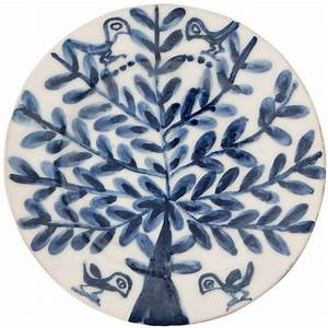 Decorative wall plates for hanging tree birds
