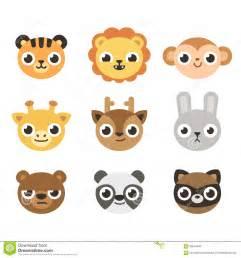Cute Cartoon Animal Faces