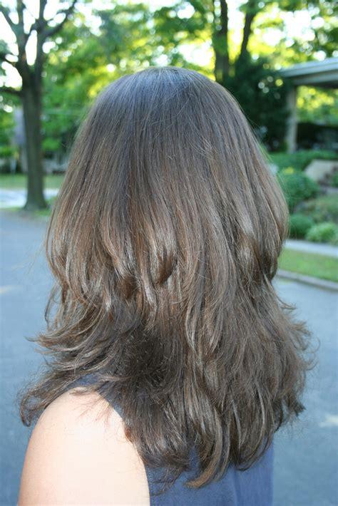 long layered haircuts  bangs