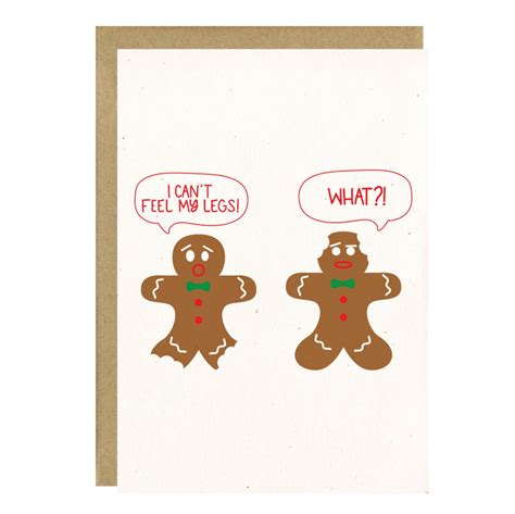 Cards & notecards > christmas card box sets with envelopes > funny christmas card sets. Funny Holiday Card - Gingerbread Man Card - Funny ...
