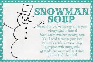 Free Printable Snowman Soup Poem