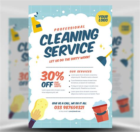 Cleaning Company Flyers Template by Cleaning Service Flyer Template V2 Flyerheroes