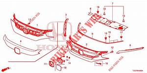 Front Grille  Molding For Honda Cars Civic Type R 5 Doors 6