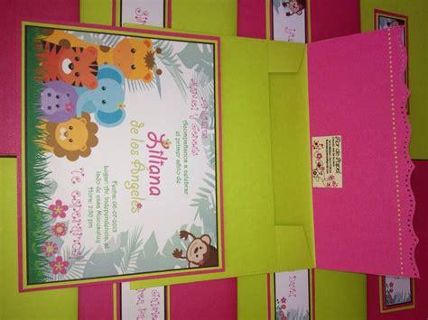 tarjeta de invitaci 243 n de animales de la selva para ni 241 a tarjetas animales