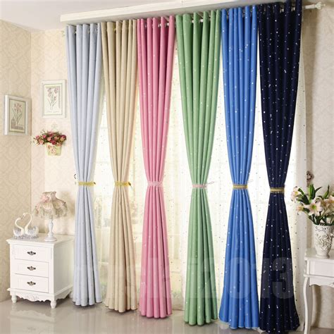 Pair Heavy Fabric Blackout Curtains Ready Made Thermal