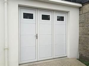 Porte De Garage 3 Vantaux : porte de garage 3 vantaux aluminium r alis e sainte anne d auray aluminium56 ~ Dode.kayakingforconservation.com Idées de Décoration