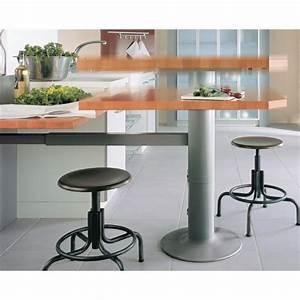 Steh Sitz Tisch : topmotion s ulenfu inkl teleskopierbarer wandstrebe verstellbarer steh sitz tisch k che bartisch ~ Eleganceandgraceweddings.com Haus und Dekorationen