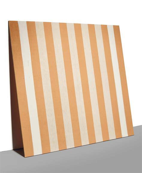 peinture acrylique blanche daniel buren b 1939 peinture acrylique blanche sur tissu 233 blanc et orange christie s