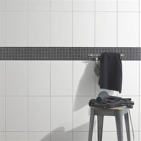 faience cuisine et blanc faïence mur blanc basic l 25 x l 40 cm leroy merlin