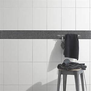 Faience Salle De Bain Blanche : fa ence mur blanc basic x cm leroy merlin ~ Melissatoandfro.com Idées de Décoration