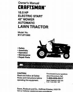 Craftsman 917271060 User Manual 15 5hp 42 Automatic Lawn