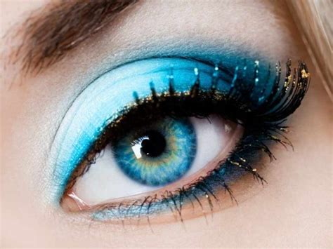 eyeliner color  blue eyes instyle fashion