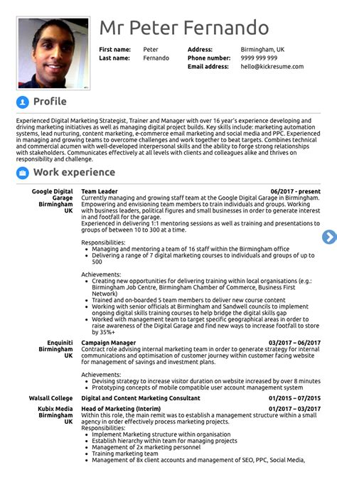Career Achievements In Resume by 10 Real Marketing Resume Exles That Got Hired At