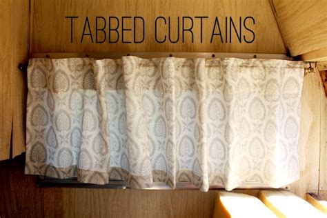 tabbed curtain options camper interiors pinterest tab curtains  camper curtains
