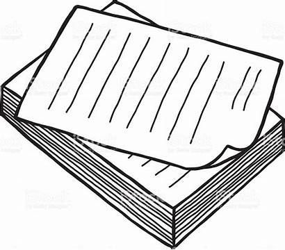 Paper Pile Clipart Vector Documents Papers Stack
